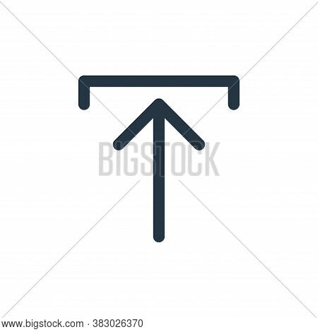 upload icon isolated on white background from arrows collection. upload icon trendy and modern uploa