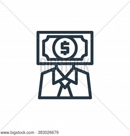 banker icon isolated on white background from business money and communication collection. banker ic
