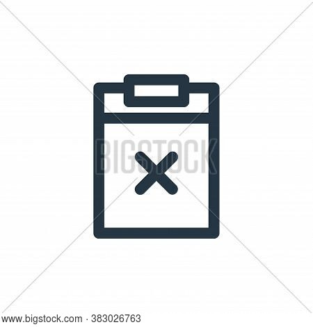 clipboard icon isolated on white background from user interface collection. clipboard icon trendy an
