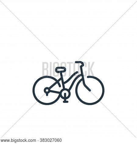 bike icon isolated on white background from vehicles transportation collection. bike icon trendy and