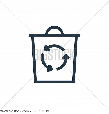 recycle bin icon isolated on white background from ecology collection. recycle bin icon trendy and m