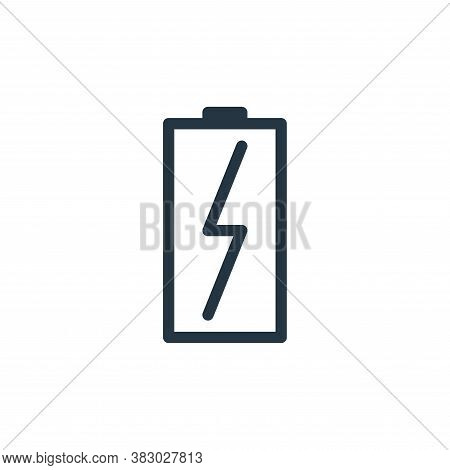 battery icon isolated on white background from communication and media collection. battery icon tren