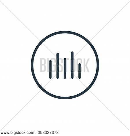 spectrum icon isolated on white background from media players collection. spectrum icon trendy and m