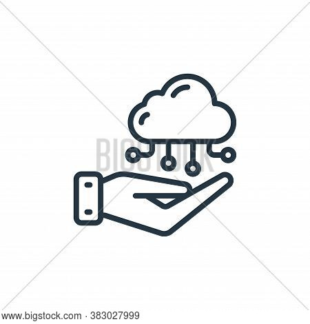 cloud computing icon isolated on white background from cloud computing collection. cloud computing i