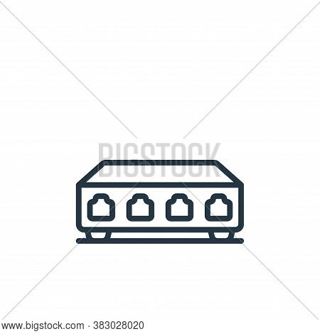 server control icon isolated on white background from cloud computing collection. server control ico