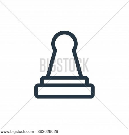 stamp icon isolated on white background from office equipment collection. stamp icon trendy and mode