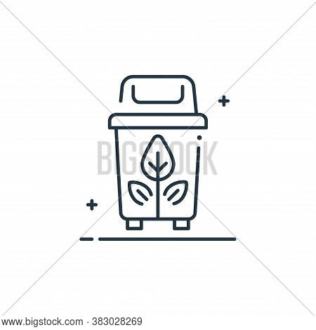 plastic bin icon isolated on white background from mother earth day collection. plastic bin icon tre