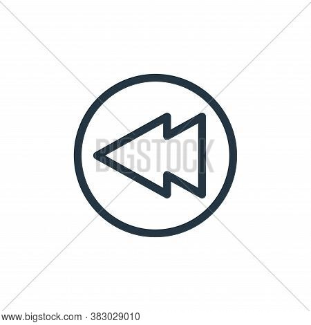 back icon isolated on white background from communication and media collection. back icon trendy and