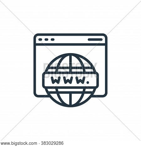 hosting icon isolated on white background from cloud computing collection. hosting icon trendy and m