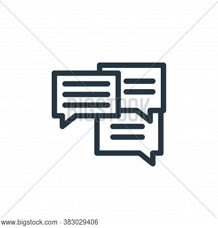 talk icon isolated on white background from school collection. talk icon trendy and modern talk symb