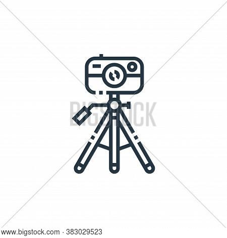 camera tripod icon isolated on white background from photography collection. camera tripod icon tren