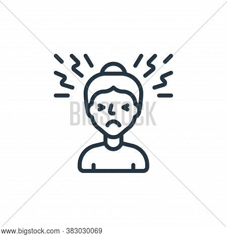 headache icon isolated on white background from coronavirus collection. headache icon trendy and mod