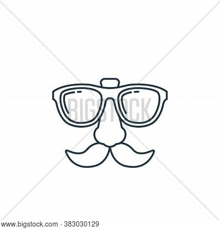 glasses icon isolated on white background from birthday party collection. glasses icon trendy and mo