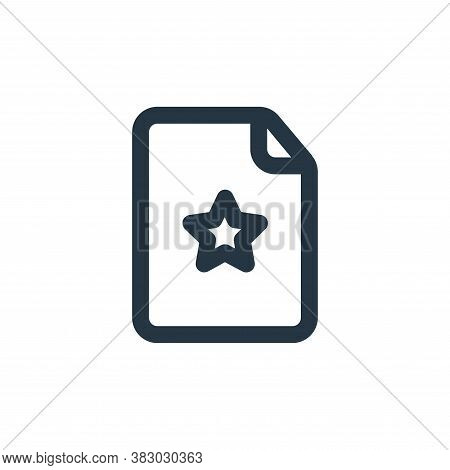 favourite page icon isolated on white background from file and folder collection. favourite page ico