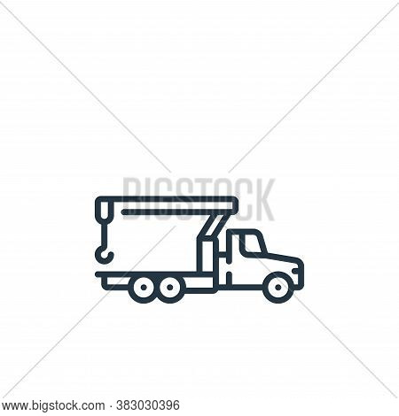 crane icon isolated on white background from vehicles transportation collection. crane icon trendy a