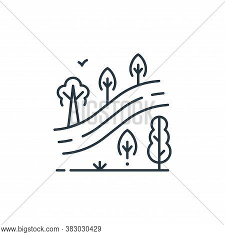 forest icon isolated on white background from mother earth day collection. forest icon trendy and mo