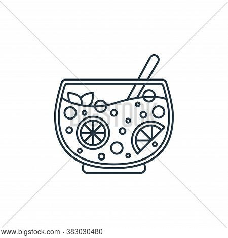 punch bowl icon isolated on white background from birthday party collection. punch bowl icon trendy