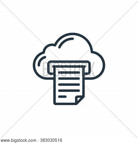 cloud icon isolated on white background from cloud computing collection. cloud icon trendy and moder
