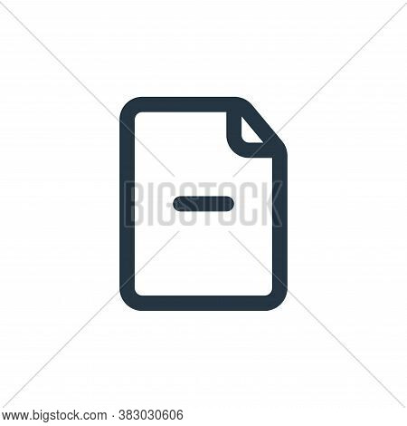 minus symbol icon isolated on white background from file and folder collection. minus symbol icon tr