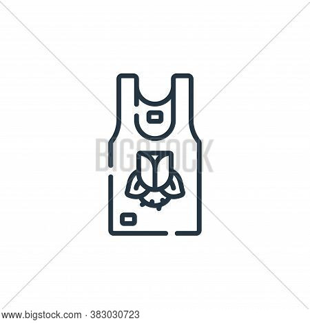 sleeveless shirt icon isolated on white background from rock and roll collection. sleeveless shirt i