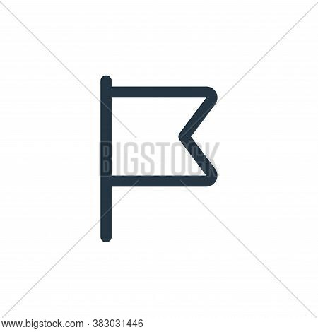 flag icon isolated on white background from user interface collection. flag icon trendy and modern f