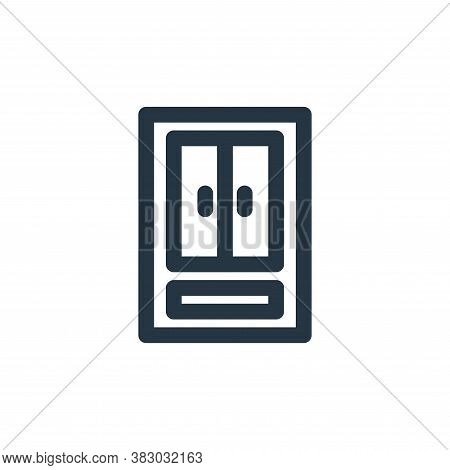 closet icon isolated on white background from furniture collection. closet icon trendy and modern cl