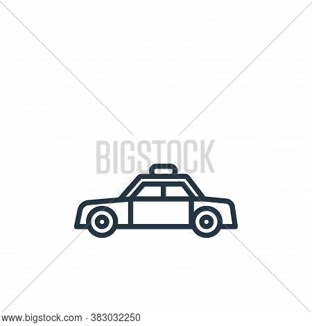 police car icon isolated on white background from vehicles collection. police car icon trendy and mo