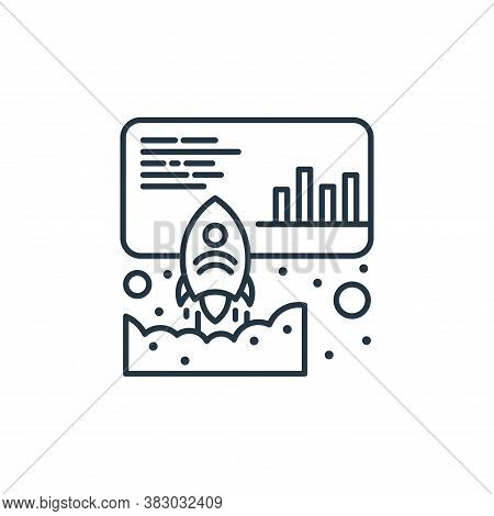 launch icon isolated on white background from digital marketing collection. launch icon trendy and m