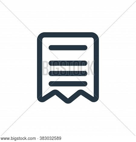 bills icon isolated on white background from ecommerce ui collection. bills icon trendy and modern b