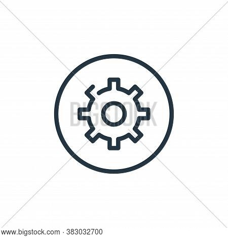 setting icon isolated on white background from media players collection. setting icon trendy and mod