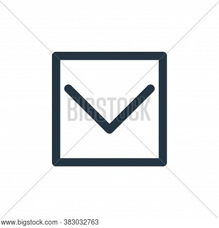 down icon isolated on white background from arrows collection. down icon trendy and modern down symb