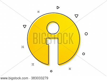 Information Center Sign. Info Icon. Support Speech Bubble Symbol. Yellow Circles Pattern. Classic In