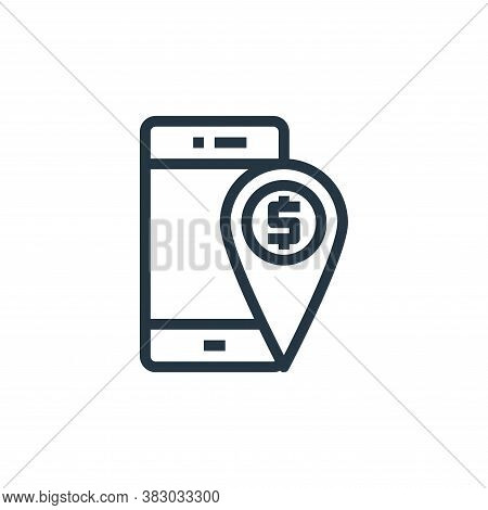 location icon isolated on white background from business money and communication collection. locatio