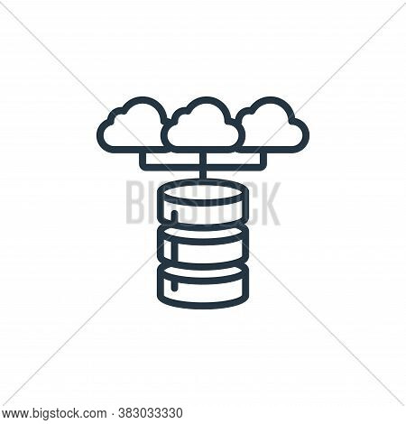 cloud database icon isolated on white background from cloud computing collection. cloud database ico