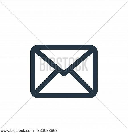 message icon isolated on white background from user interface collection. message icon trendy and mo