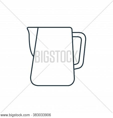 pitcher icon isolated on white background from coffee shop collection. pitcher icon trendy and moder