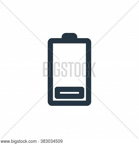 low battery icon isolated on white background from technology collection. low battery icon trendy an