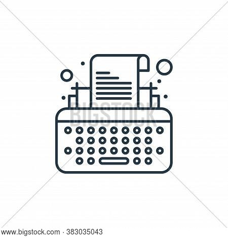 typewriter icon isolated on white background from digital marketing collection. typewriter icon tren