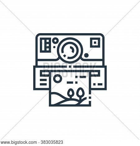 instant camera icon isolated on white background from photography collection. instant camera icon tr