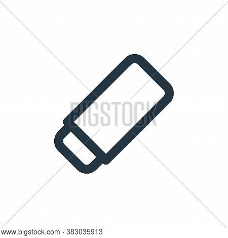 eraser icon isolated on white background from text editor collection. eraser icon trendy and modern