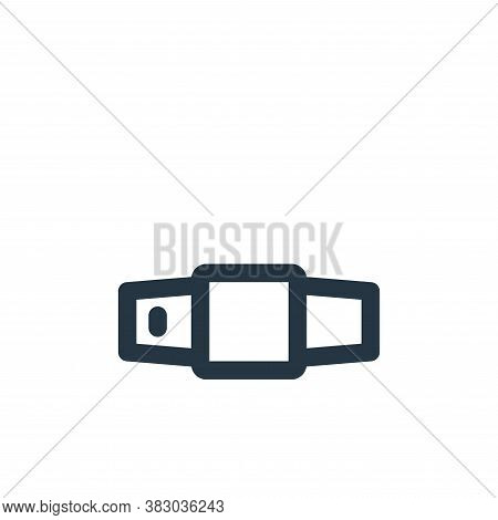 belt icon isolated on white background from style accessories collection. belt icon trendy and moder