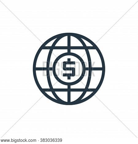 global icon isolated on white background from business and money collection. global icon trendy and
