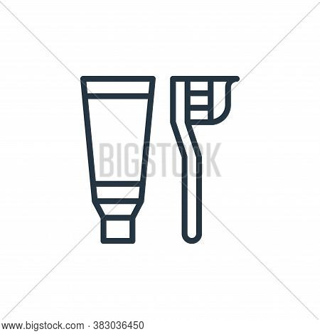 toothbrush icon isolated on white background from bathroom accessories collection. toothbrush icon t