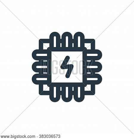cpu icon isolated on white background from technology collection. cpu icon trendy and modern cpu sym