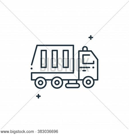 garbage truck icon isolated on white background from mother earth day collection. garbage truck icon