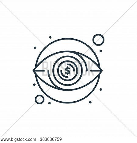 eye icon isolated on white background from digital marketing collection. eye icon trendy and modern