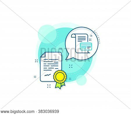 Money By Mail Sign. Certification Complex Icon. Payment Credit Card Line Icon. Agreement Conditions