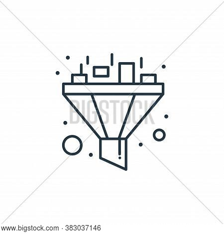 funnel icon isolated on white background from digital marketing collection. funnel icon trendy and m