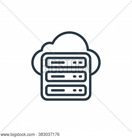 cloud server icon isolated on white background from cloud computing collection. cloud server icon tr