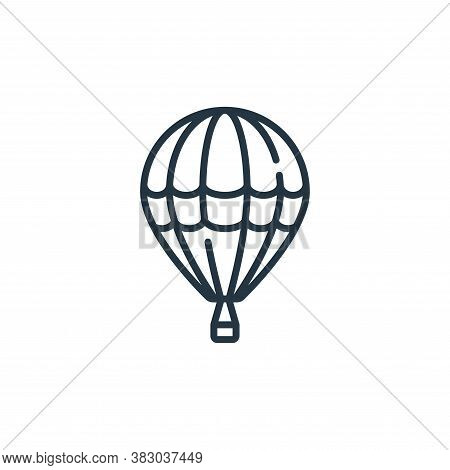 hot air balloon icon isolated on white background from vehicles transportation collection. hot air b